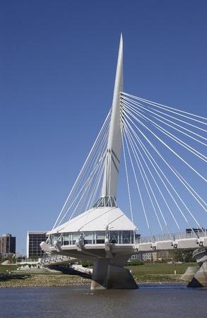 riel: Esplanade Riel bridge, Winnipeg, Manitoba
