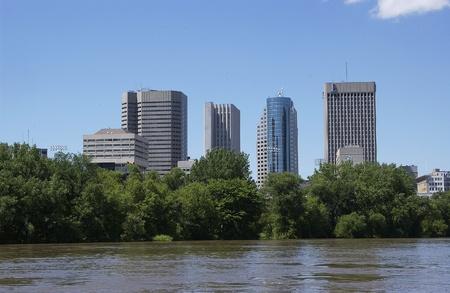 skyline van Downtown, Winnipeg, Manitoba