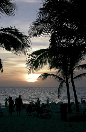 Sunset over the ocean in Mexico