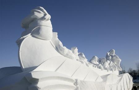 Snow sculptures in the winter, Winnipeg, Manitoba