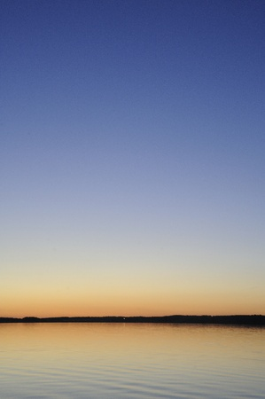 Sunset over Clear Lake, Manitoba