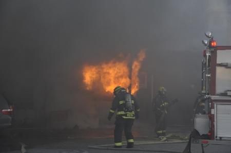 Grote brand op Albert St Winnipeg, Manitoba Redactioneel