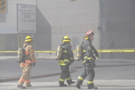 Major fire on Albert St  Winnipeg, Manitoba