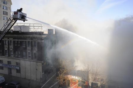 Major Fire on Albert Street, Winnipeg, Manitoba