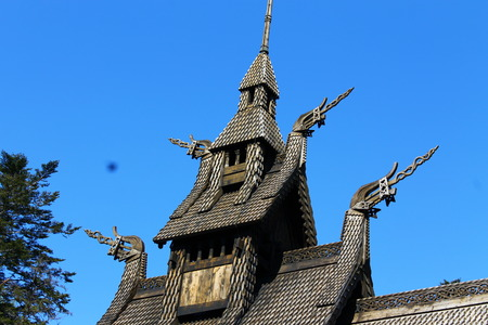 stave: Stave church, Bergen, Norway Stock Photo