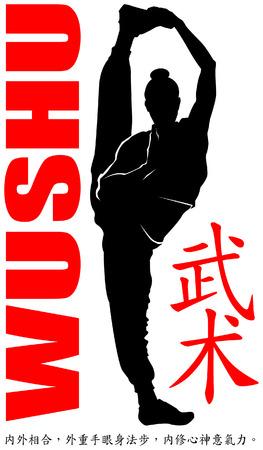 stance: wushu female stance high kick