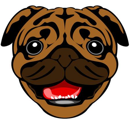 Little Pug Happy Dog