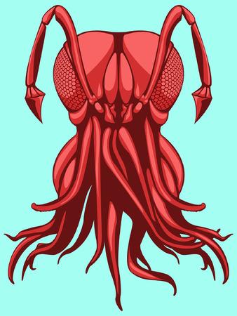 mutant: Octo insect mutant animal Illustration
