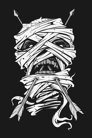 Mummy with Arrow on the Head Ilustrace
