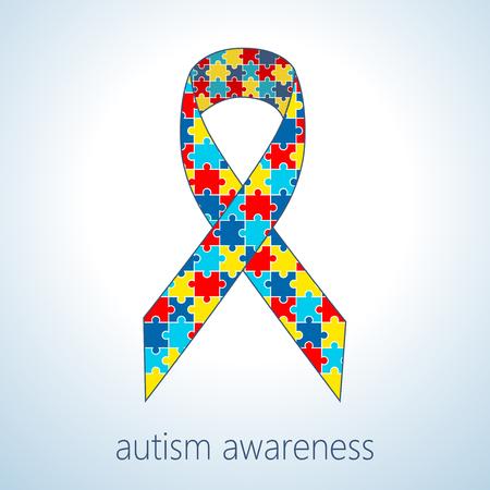 ilustracji wektorowych z autyzmem puzzle wstążce dni autyzm?