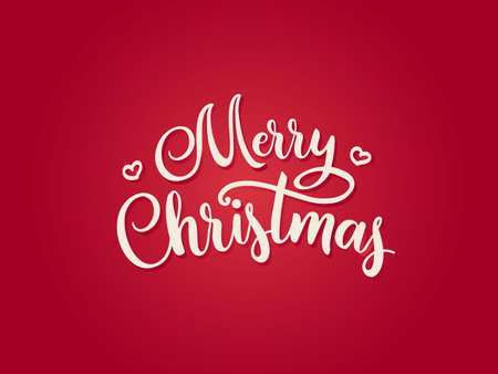 Merry Christmas type red vector font style calligraphic lettering typography calligraphy red