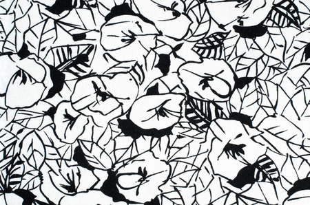Graphic floral pattern on fabric black and white flowers print graphic floral pattern on fabric black and white flowers print stock photo picture and royalty free image image 36183506 mightylinksfo