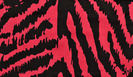 zebra pattern: Pink and black zebra pattern. Magenta animal print as background. Stock Photo
