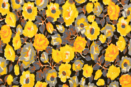 Small floral pattern on black fabric yellow and grey flowers small floral pattern on black fabric yellow and grey flowers stock photo picture and royalty free image image 44809759 mightylinksfo