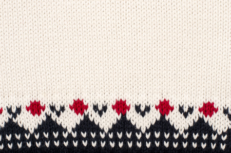 Wool Sweater Pattern As A Background Close Up On Winter Motif