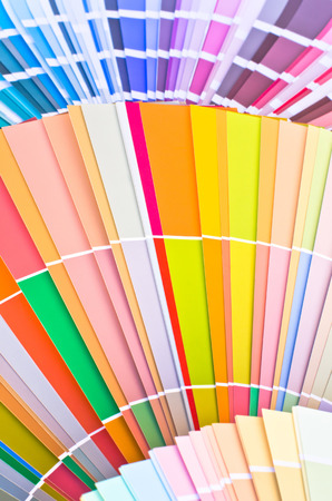 colorful paint: Paint samples. Sample of colorful paint. Choosing the right color.