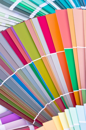 paint samples: Paint samples. Sample of colorful paint. Choosing the right color.