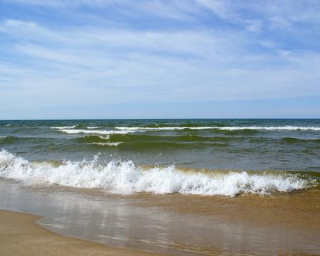 waves crashing: Waves crashing in                 Stock Photo