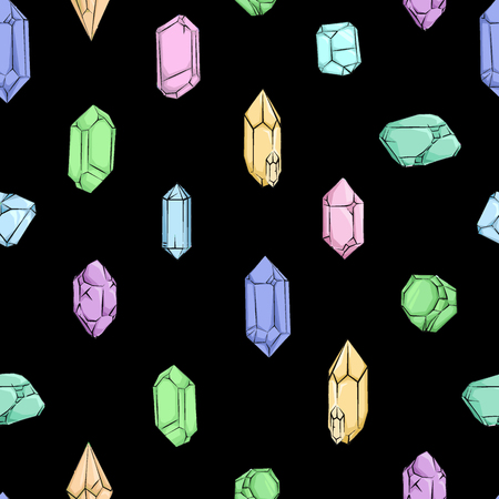 Crystals and Diamonds Pattern