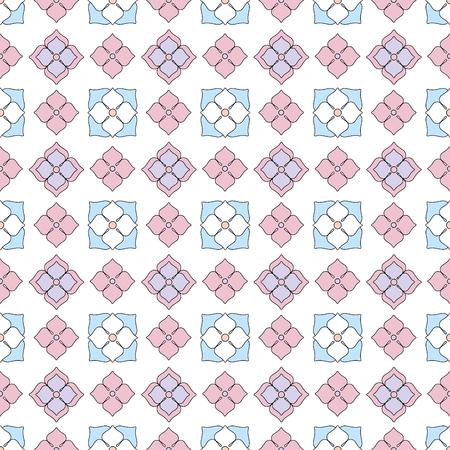 Spring flower daisy seamless pattern flat simple Standard-Bild - 105592912