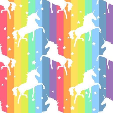 Colorful rainbow Unicorn. Magical animal rainbow Pattern Illustration