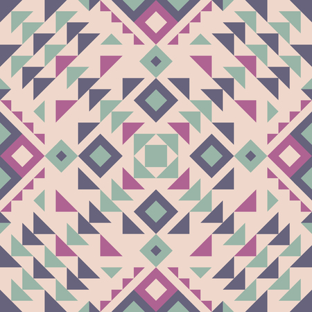 tribal fusion and navajo style geometric triangle pattern