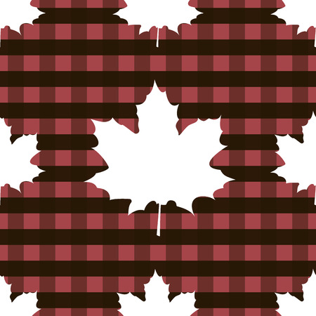 Maple leaf canadian seamless pattern Abstract Scottish cell