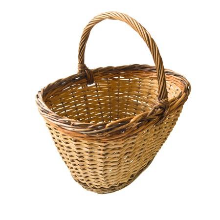 empty basket isolated on white background photo