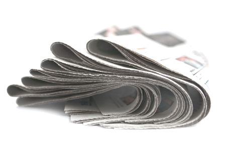 a pile of newspapers, selective focus photo