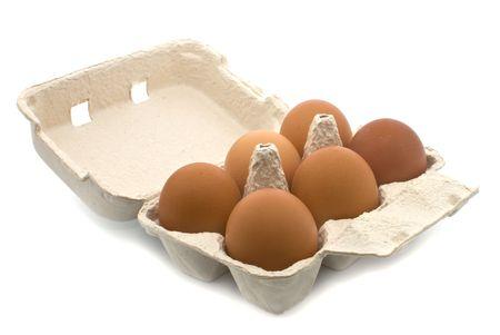 three eggs isolated on white background Stock Photo - 6618862
