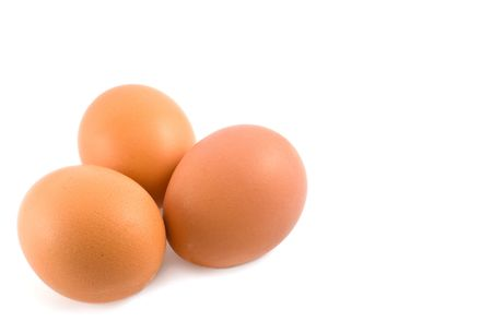 three eggs isolated on white background Stock Photo - 6618872