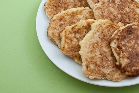 potato pancakes on the plate photo