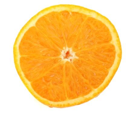 baclground: Orange slice on white baclground