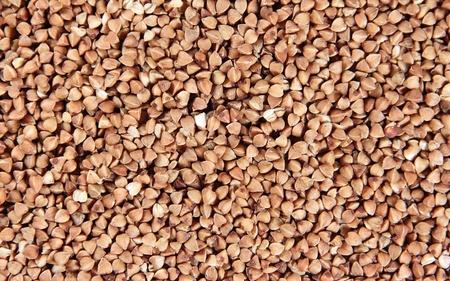 Dry buckwheat background close up photo