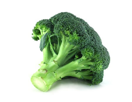 Fresh broccoli isolated on white background photo