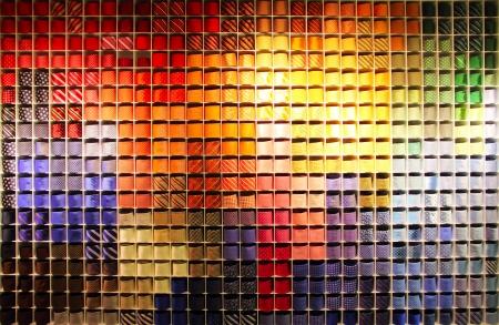 Showcase with many colorful ties on shelfs Reklamní fotografie