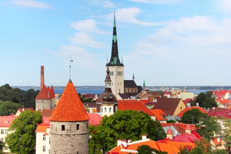 View over the Old Town of Tallinn, Estonia