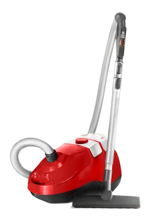Vacuum cleaner isolated on white background photo