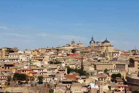 Toledo, Spain, panoramic view on city at sunny day photo
