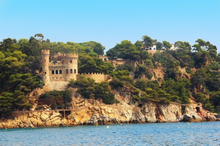 castle Sant Joan in Costa Brava , Lloret De Mar, Catalonia, Spain Stock Photo
