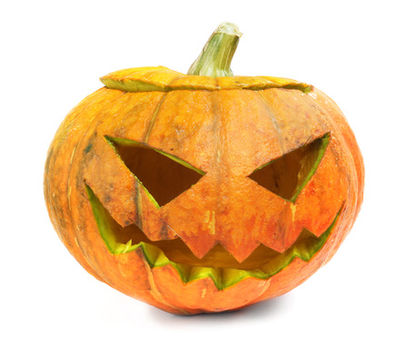 Halloween pumpkin isolated on white background Stock Photo - 22272340