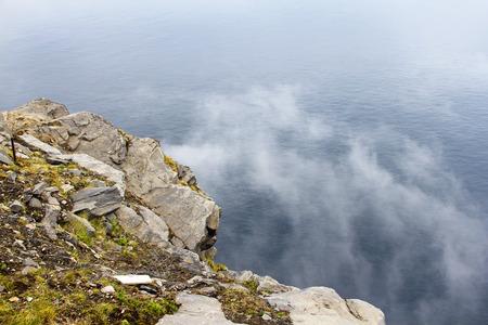 山と霧を表示してから
