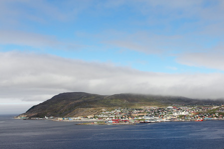 View of Hammerfest town in the north of Norway photo