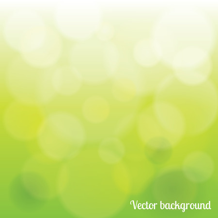 Abstract green light bokeh circles vector background Vector
