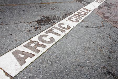 rovaniemi: Arctic circle mark near Rovaniemi, Finland