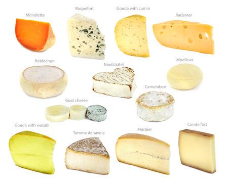 queso de cabra: Colecci�n queso franc�s Foto de archivo