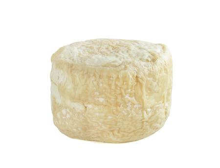 whitem: Buche de chevre goat milk cheese isolated on white background Stock Photo