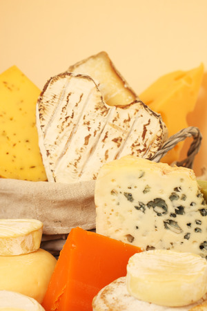 Various types of cheese composition photo