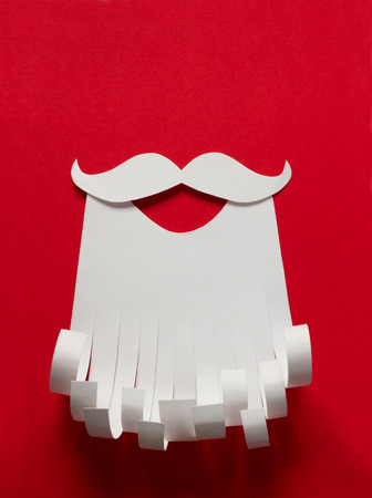 Santa Claus Christmas conceptual paper background with copy space photo