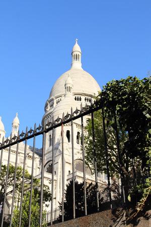 sacral symbol: Basilica Sacre Coeur at Montmartre in Paris, France